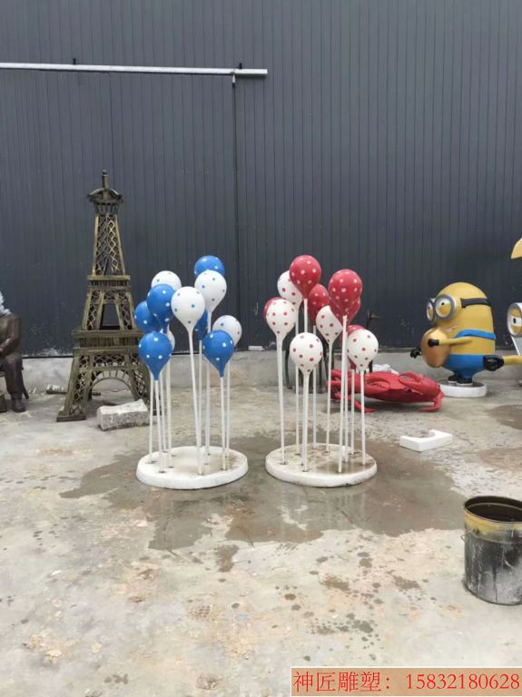 玻璃钢彩色气球雕塑,玻璃钢公园景观雕塑
