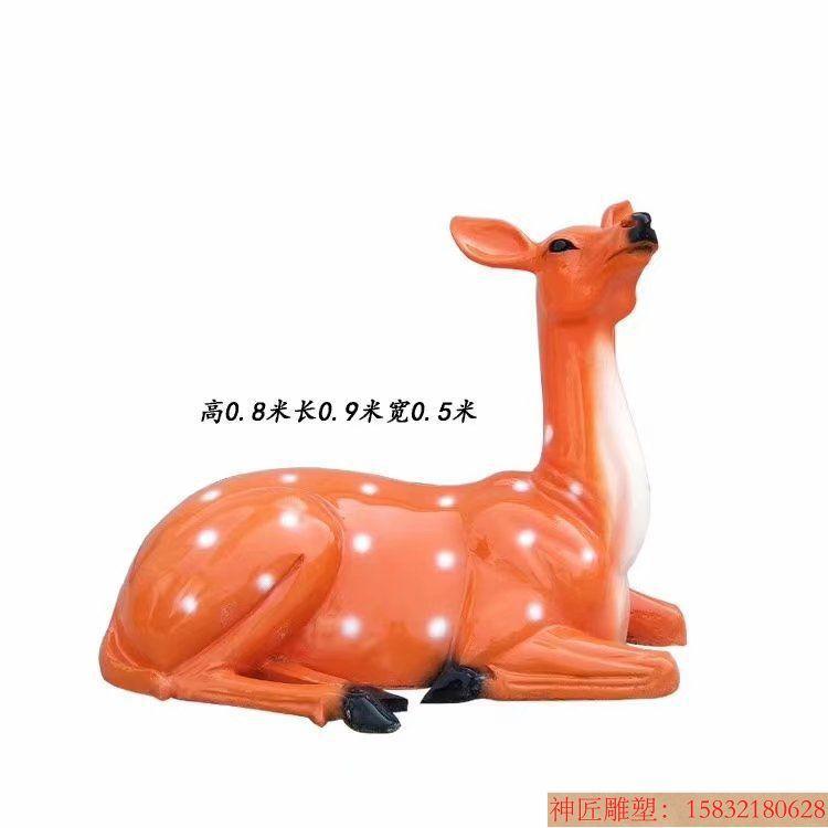 玻璃钢材质梅花鹿雕塑2
