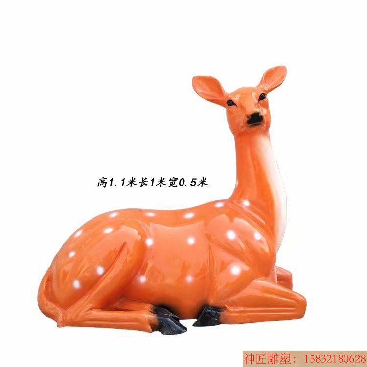 玻璃钢材质梅花鹿雕塑3