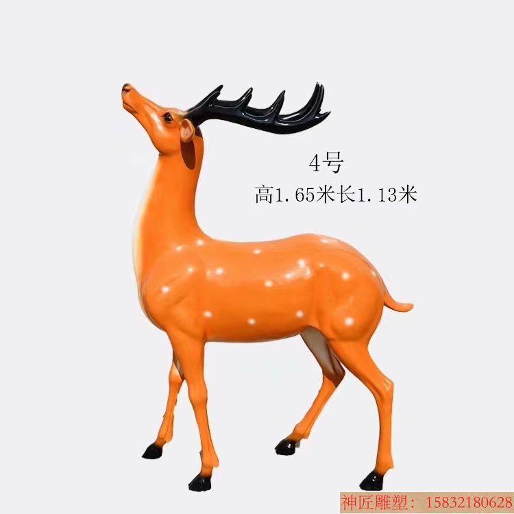 玻璃钢材质梅花鹿雕塑6